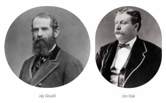 Jay Gould and Jim Fisk American financiers